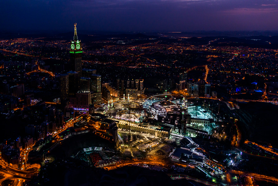 Makkah after sunset by Mohammed Yahya on 500px.com