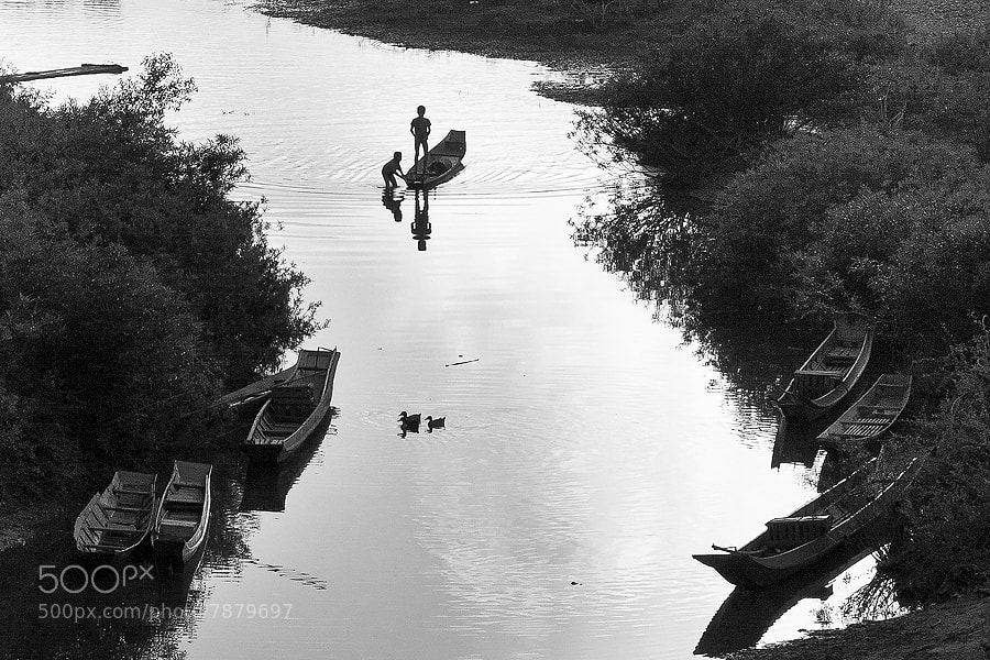 Photograph Boys fishing in Muang Noi by Christer Häggqvist on 500px