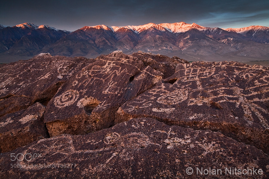 Photograph Petroglyphs and White Peak by Nolan Nitschke on 500px