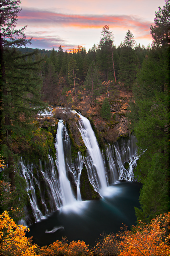 Photograph Burney Falls Sunset by Jean Day Photography on 500px