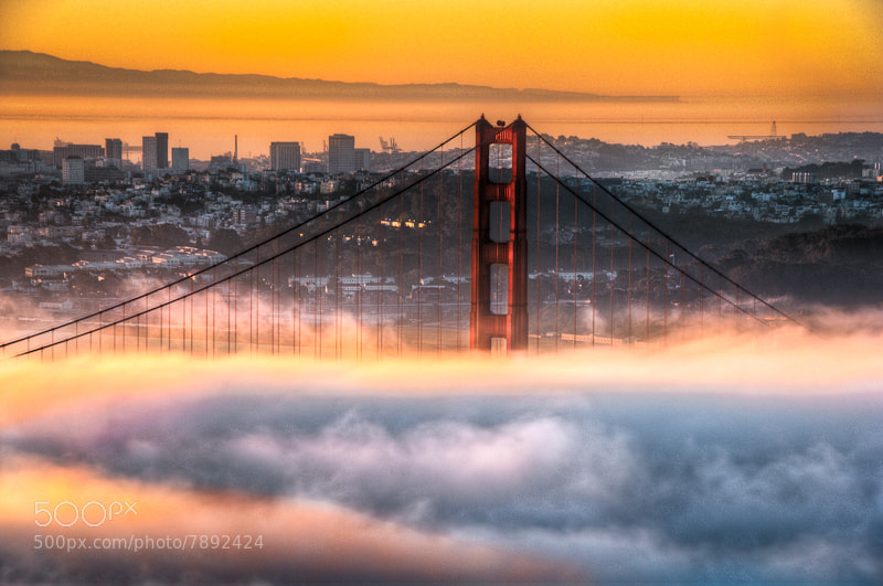 Photograph San Francisco, Golden Gate in fire chamber by Ali Erturk on 500px