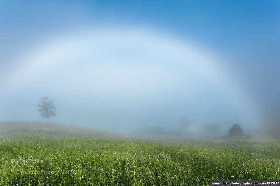 Dzembronya. Misty rainbow. by architecturalphotographer