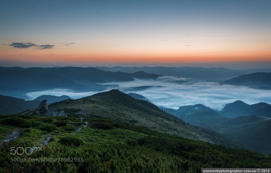 Dzembronya. Morning on Vuhatom Kamen-3 by architecturalphotographer
