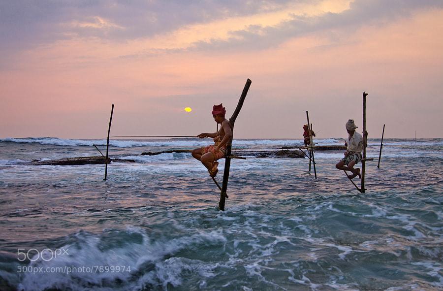 Photograph Stick-fisherman by Sam Dobson on 500px