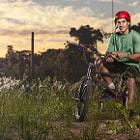Brian Boghosian. BMX rider portrait in Buenos Aires, Argentina.