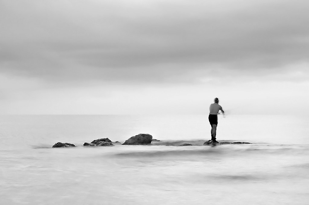 Photograph Alone with the sea by José Manuel Hermoso on 500px