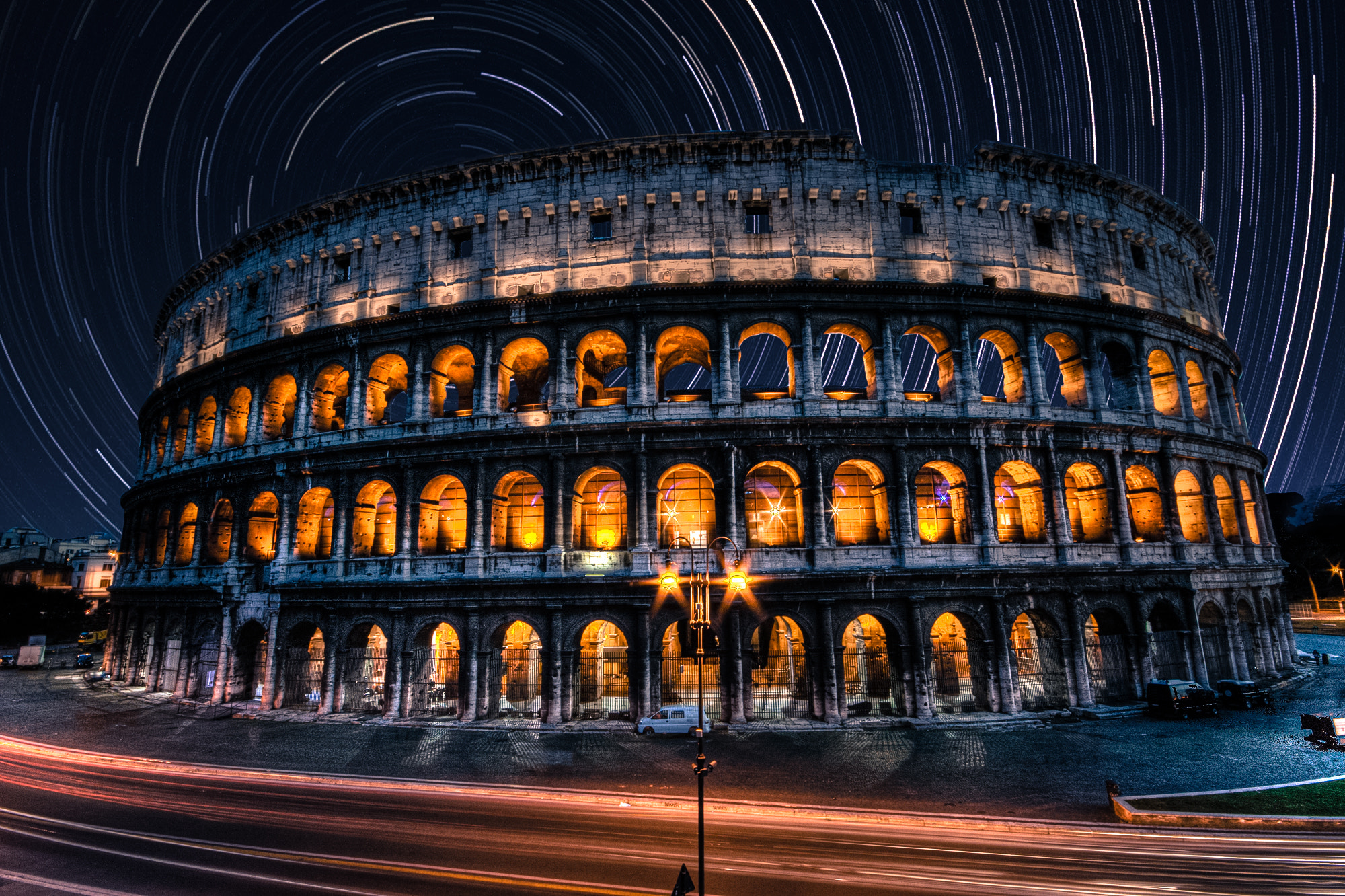 Photograph Star streaked Colosseum  by Ewan Tupper on 500px