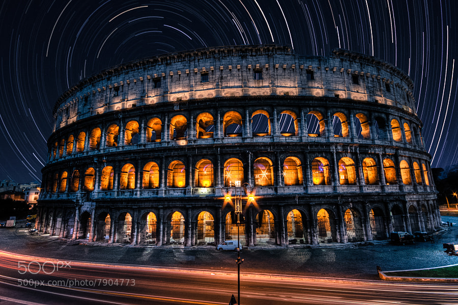 Star streaked Colosseum  by Ewan Tupper (ewantupper)) on 500px.com