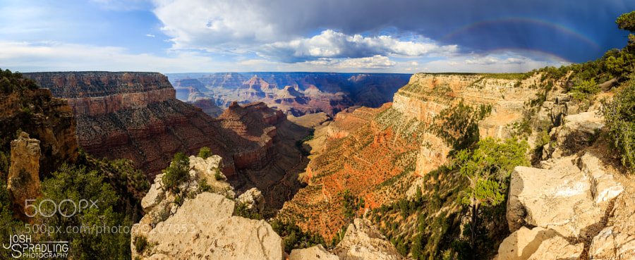 Double Rainbow over The Grand Canyon by spradling