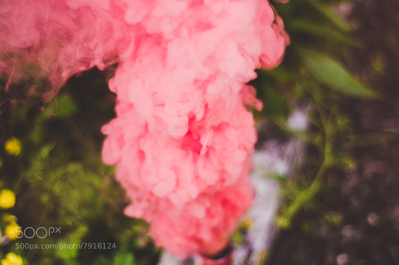 Photograph pink smoke  by Alex Drl on 500px