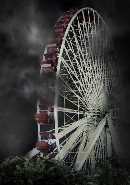 Photograph Ferris wheel at night - in clouds by Karen Janas on 500px
