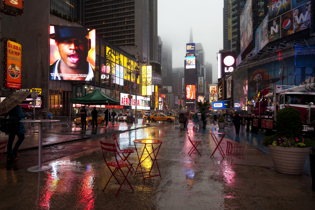 Photograph Wet Times Square by Jorge Escobedo on 500px