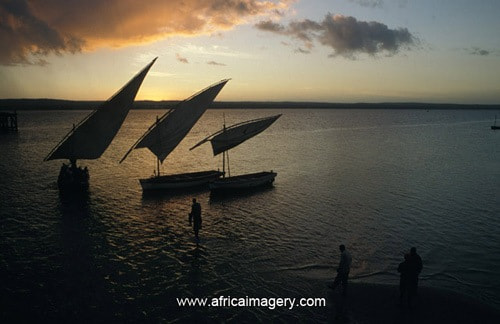 Photograph Dhows at sunset, Inhambane, Mozambique by Africa  Imagery on 500px