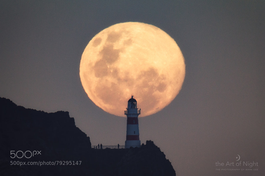Photograph Supermoon Over Cape Palliser by Mark Gee on 500px
