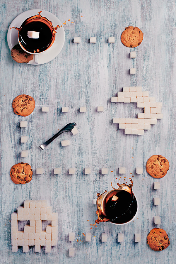 Photograph Pac-Man (8 bit teatime 2.0) by Dina Belenko on 500px