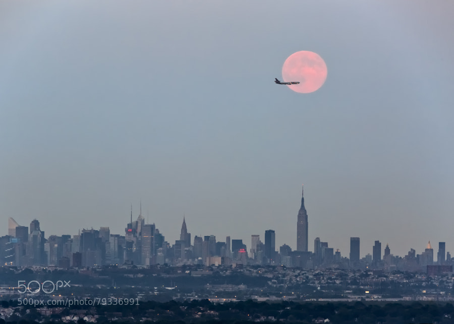 Photograph Super Moon over New York City by Eduard Moldoveanu on 500px