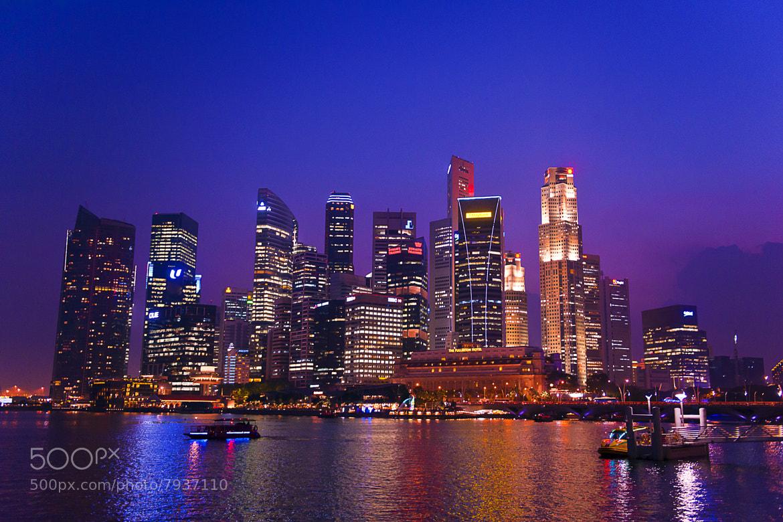 Photograph Singapore Twilight  by Thanadol Yuiam on 500px