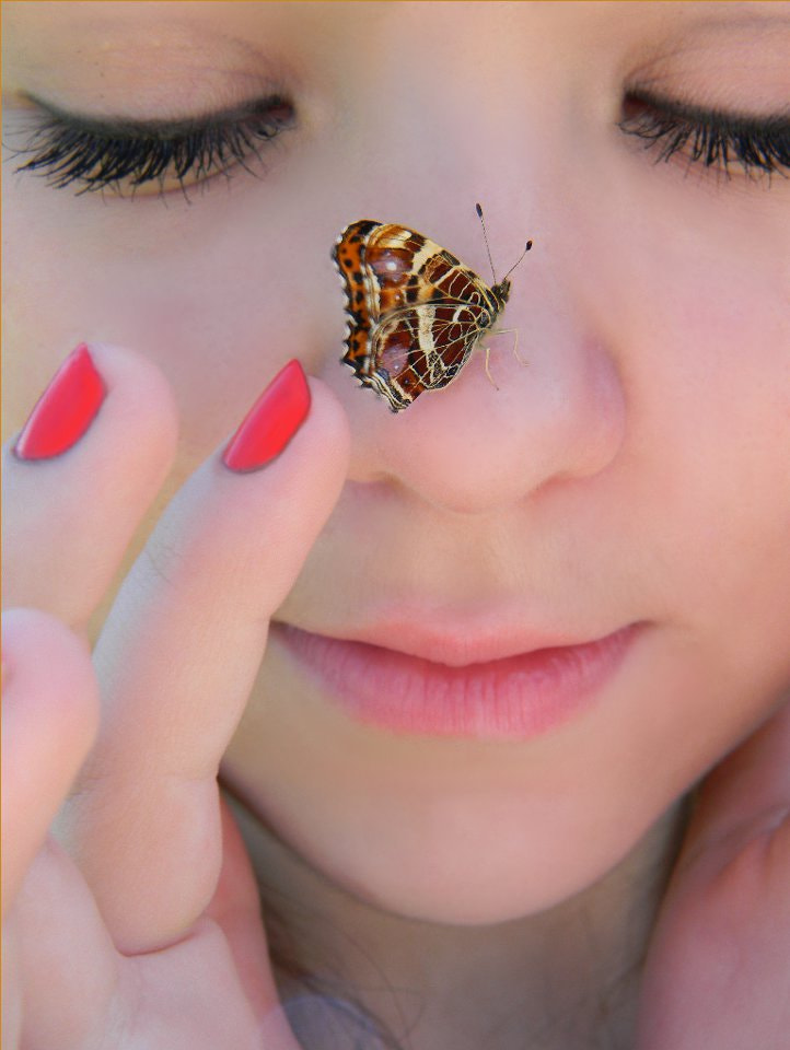 Photograph Domi with butterfly by Anne B on 500px