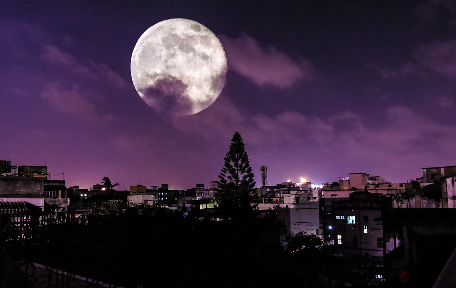 SuperMoon by Abhishek Singh on 500px.com