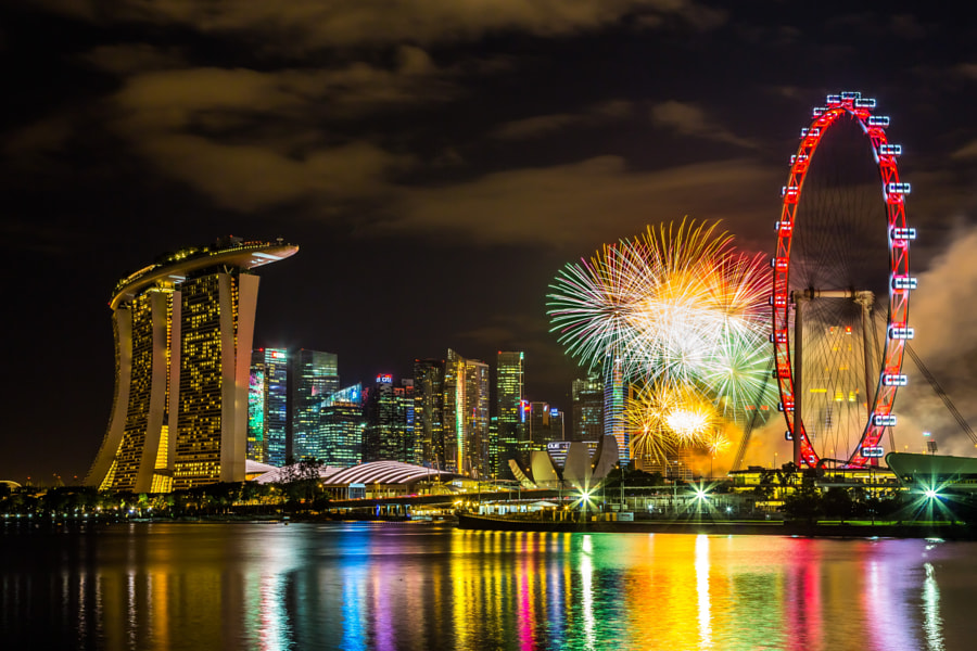 Photograph Singapore NDP 2014 Fireworks by Swee Meng Seow on 500px