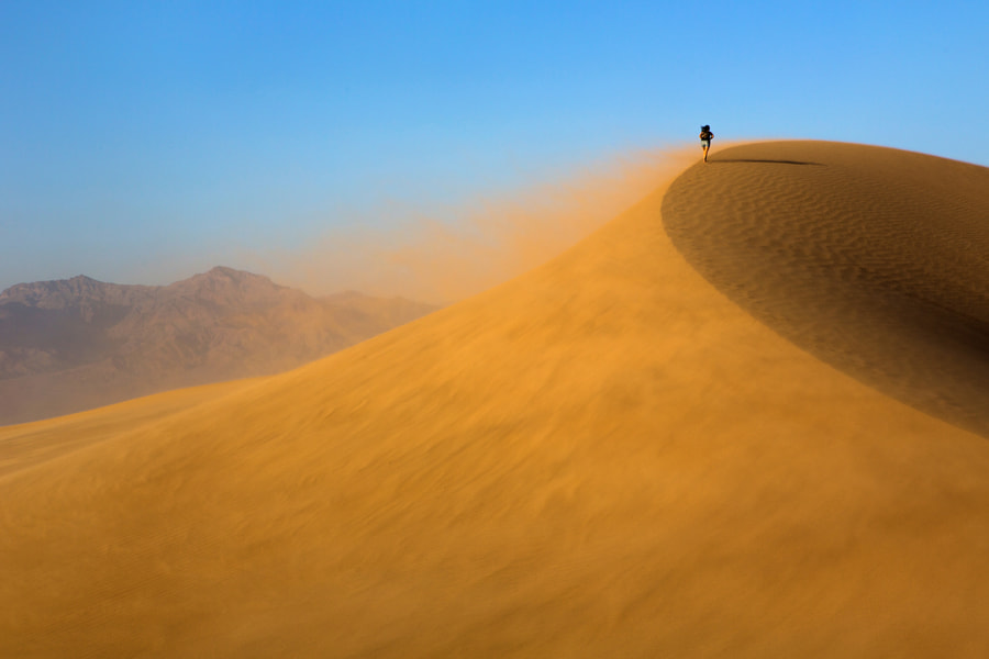 Photograph Marie Hiking on Blowing Sand by Rob Kroenert on 500px