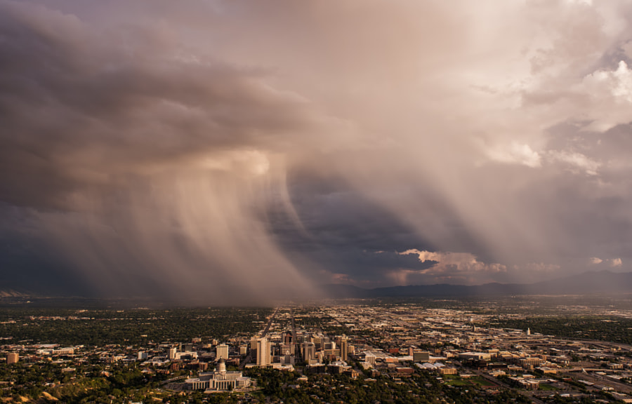 Photograph Storm over Salt Lake City by Prajit Ravindran on 500px