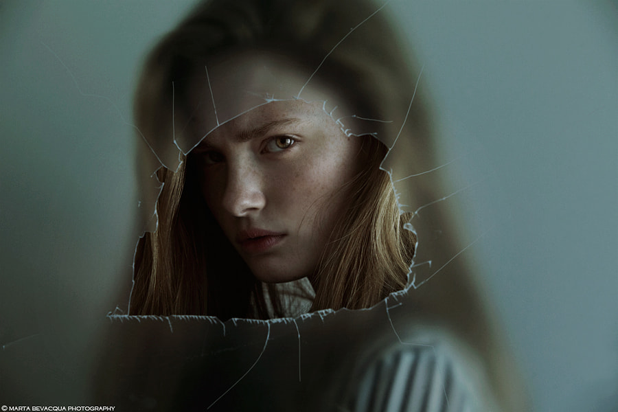 (Helena) THROUGH THE GLASS by Marta Bevacqua on 500px.com