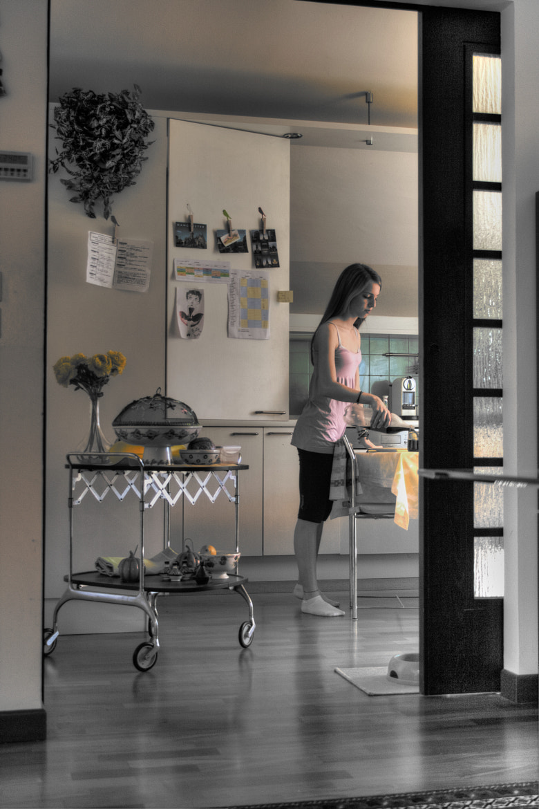 Photograph Anna in the kitchen by Marco Falcone on 500px