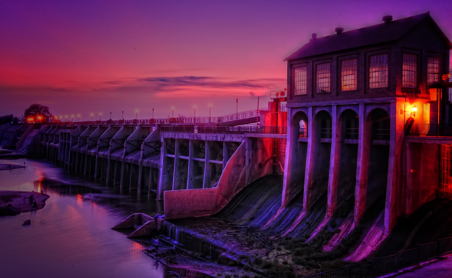 Photograph Sunset Beneath the Dam by C. N. Dastodd on 500px