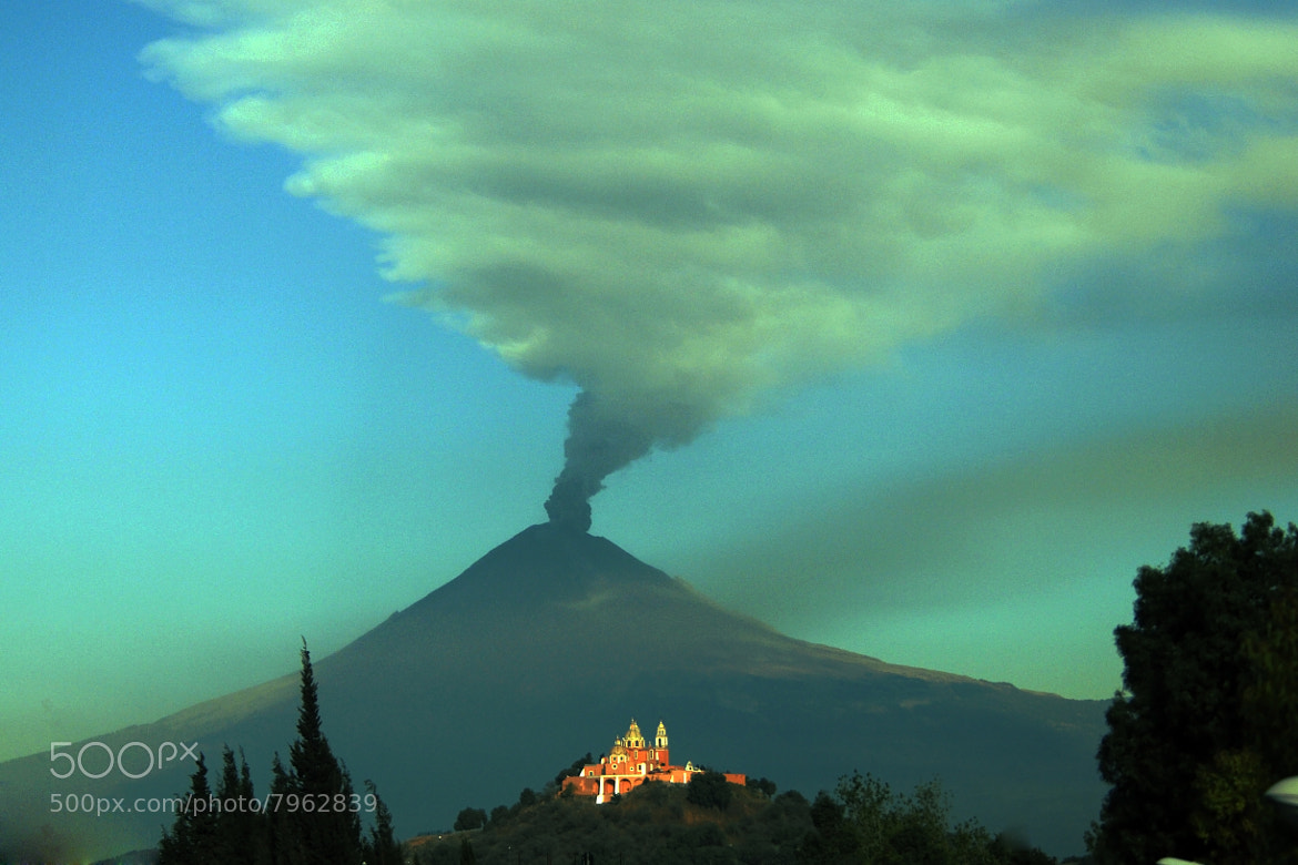 Photograph Church and smoking volcano by Cristobal Garciaferro Rubio on 500px
