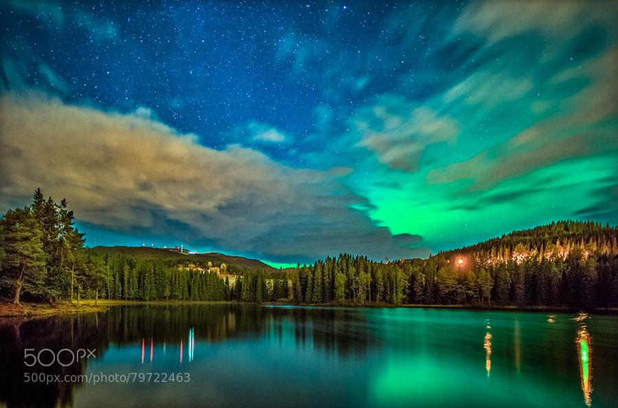 Photograph Aurora over Baklidammen by Aziz Nasuti on 500px