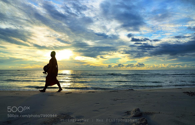 Photograph Monk on the Beach by Mez Pinijpongphan on 500px