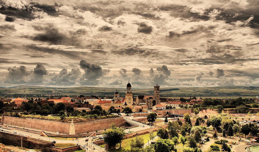 Sunday brings an interesting dance of clouds over the citadel by Ciortea Madalin on 500px.com