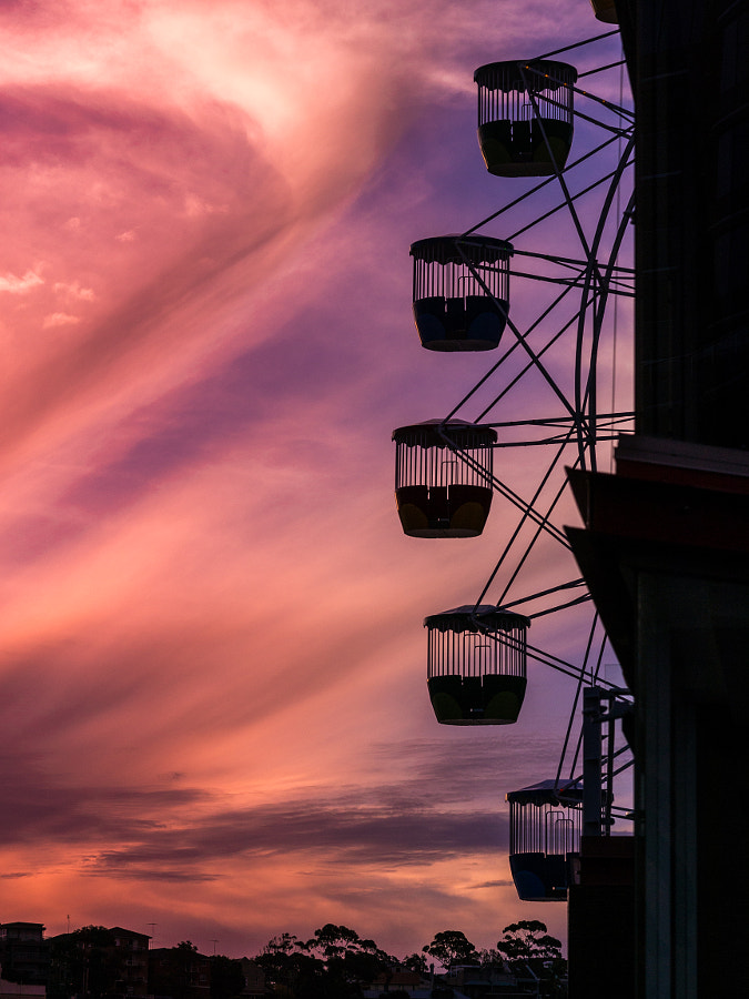 Photograph Luna Park Sydney Australia Sunset Ferry Wheel by Travis Chau on 500px