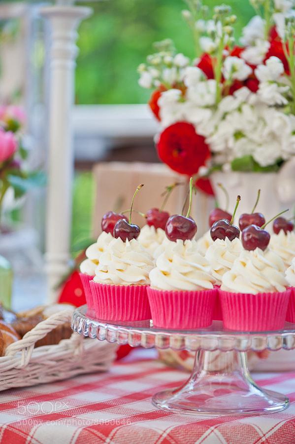 Photograph cherry cup-cakes by Galina Kochergina on 500px