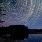 Another star trails study. Aurora Borealis moving across the northern sky can be seen in the timelapse from this shoot!