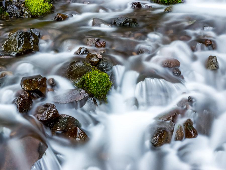 Wahkeena Falls, close-up