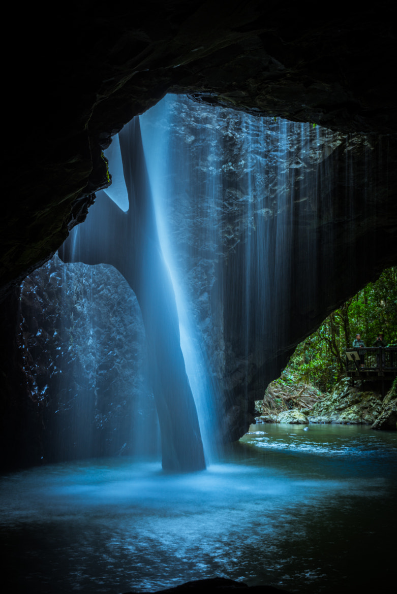 Photograph Natural Arch Waterfall from beneath, Numinbah Valley QLD. by Alex May on 500px