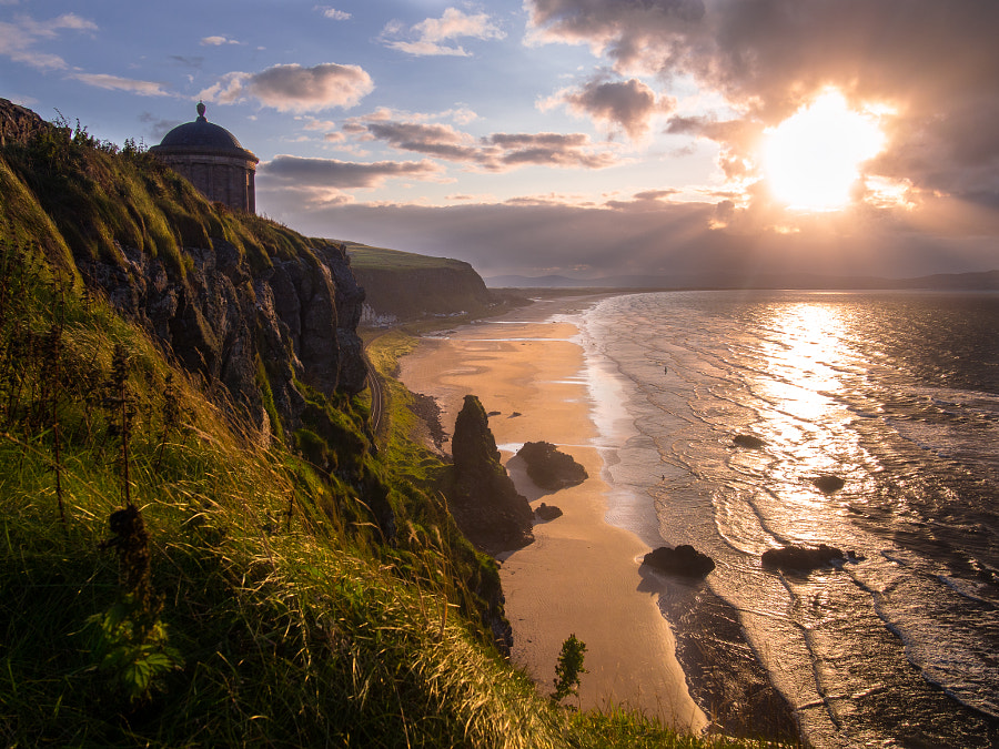 Photograph Mussenden Temple in sunlight by Oisin Patenall on 500px