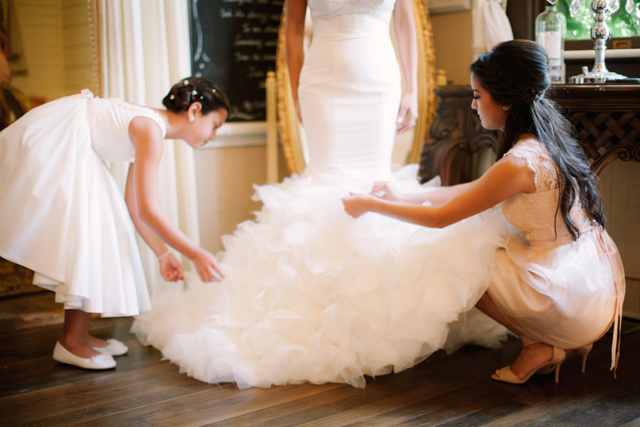 Maid of Honor and Flower Girl