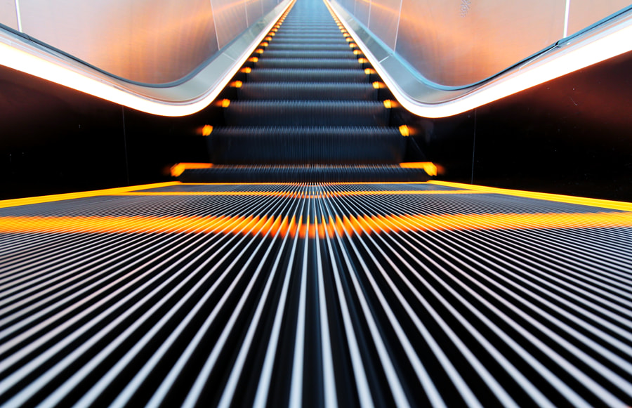 moving staircase by MHLck on 500px.com