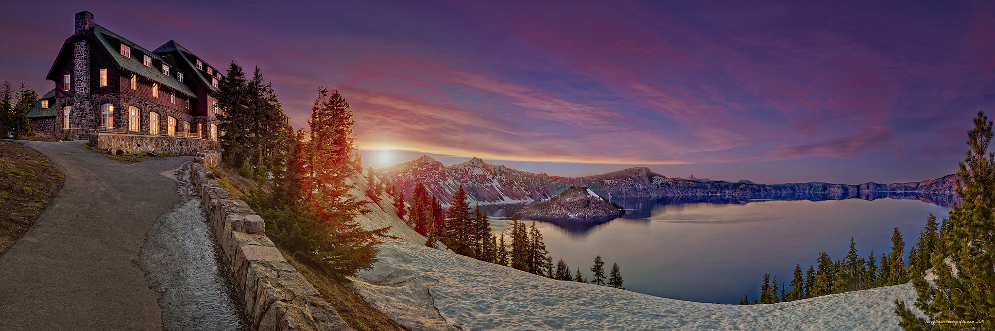 Photograph Crater Lake Sunset by Jerry Hayes on 500px
