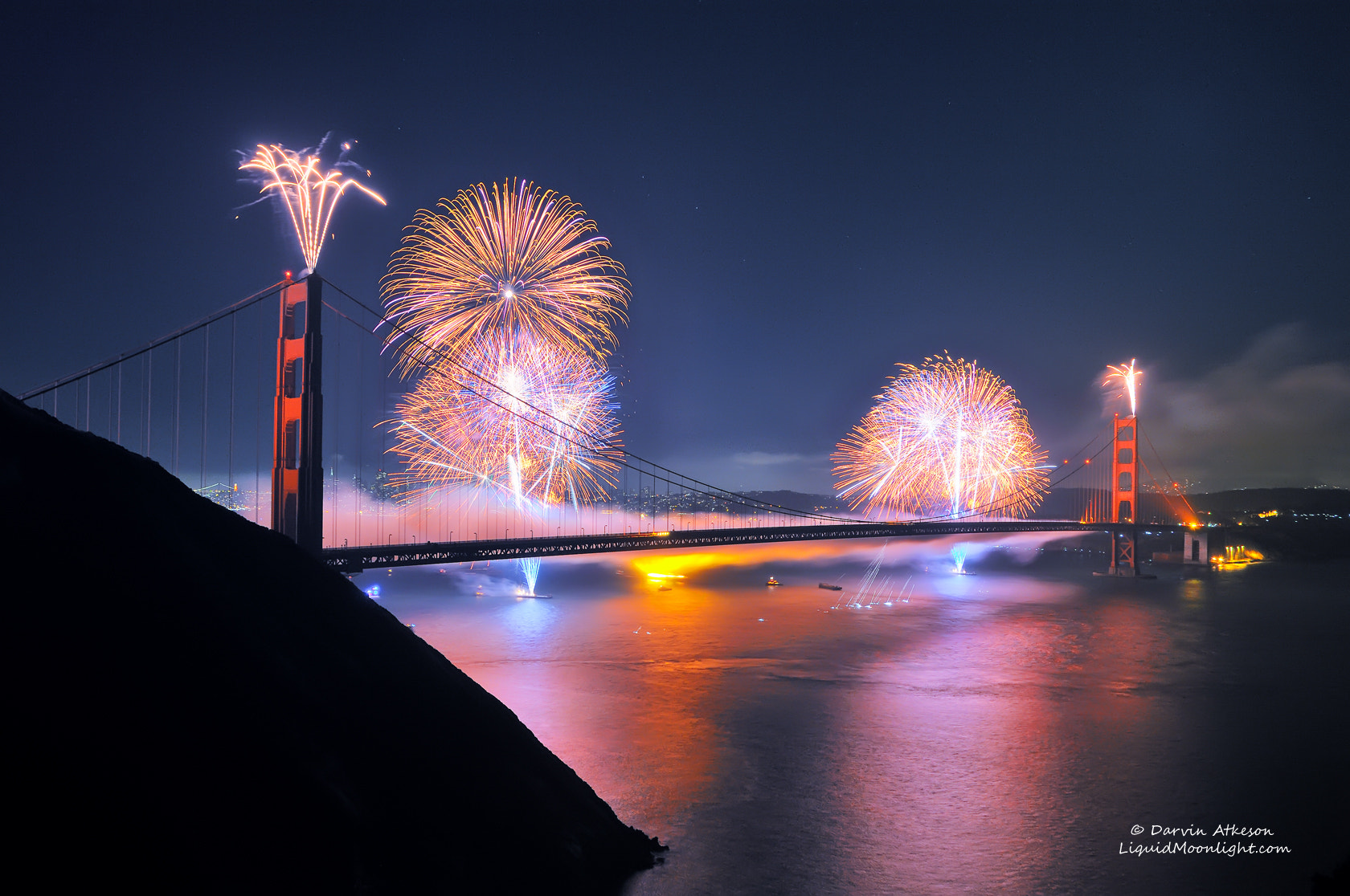 Photograph 75th Anniversary Fireworks - Golden Gate Brige by Darvin Atkeson on 500px