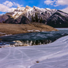 Постер, плакат: Melting Lake Minnewanka