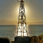 navigational light in the morning sun