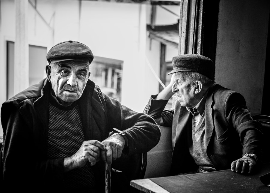 Old Men at coffee shop