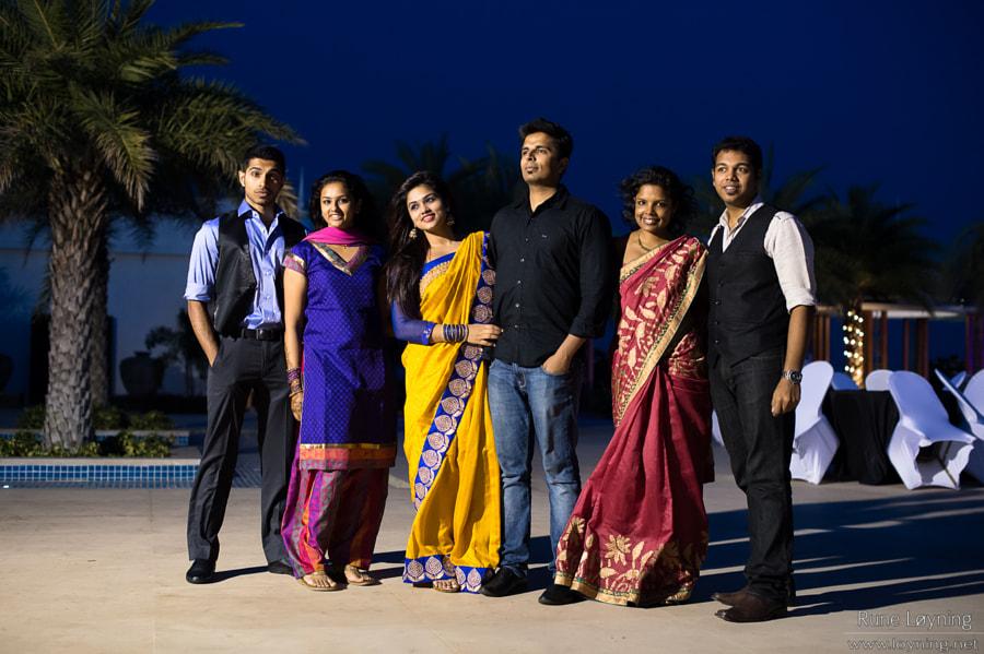 Indian wedding group pose