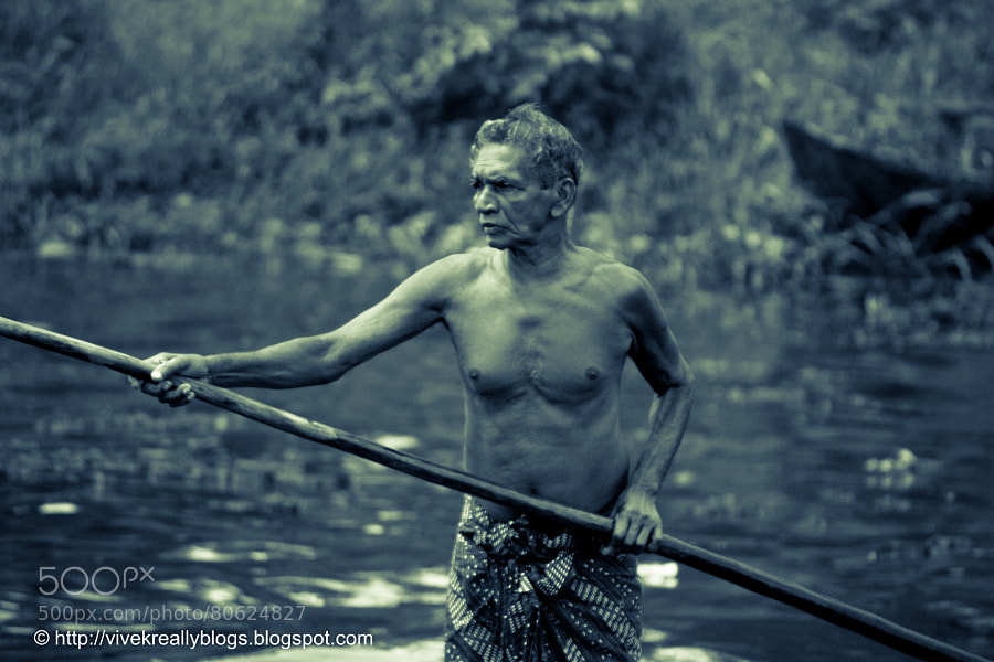 Photograph The boatman by Vivek Pandey on 500px