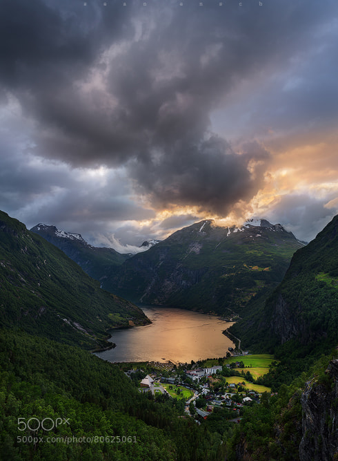 Photograph Smoke over the fjord by Sean Ensch on 500px