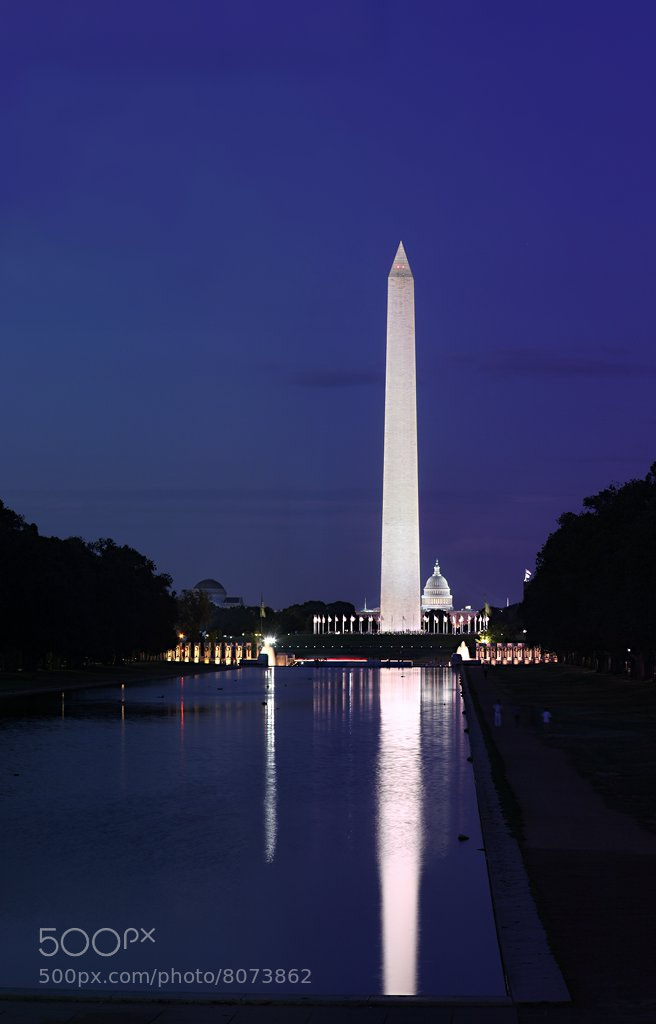 Photograph Washington Monument at Sunset by Metro DC Photography on 500px